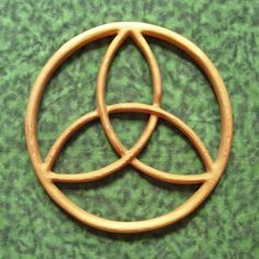 Encircled Trinity Celtic Knot- Balance in Divine Energy MEANING: Simply three arcs, this is the most basic Triquetra. Originally it is believed that, to the early Celtics, the three arcs represent the three aspects of the ancient Celtic Goddess; Maiden, Mother, Crone. As Christianity spread, the three arcs were adapted to the Christian Trinity. By encircling the knot, each aspect is placed into a relationship, finding balance as we move from one Divine Energy to the next. $58.00