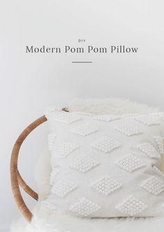 DIY modern pom pom pillow (Almost Makes Perfect)