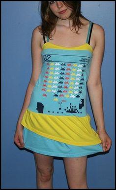 DIY #SpaceInvaders dress. #Geek