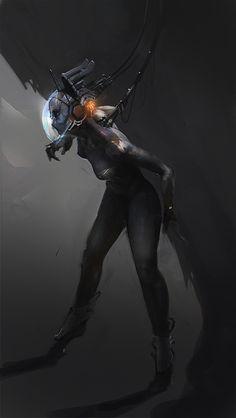 cyberpunkvisions:  Who? - Alex Kim [http://foton-3.deviantart.com/]