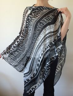 Swimwear Wrap Pareo, Beach Cover Up, Letters Summer Scarf, Swimwear Pareo, Black White Letter Pattern Sarong, Women's Fashion, Fast Delivery by designscope on Etsy https://www.etsy.com/listing/231202399/swimwear-wrap-pareo-beach-cover-up