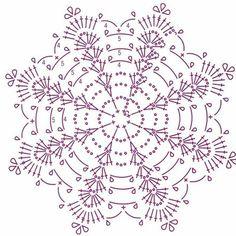Crochet Pillow Patterns Part 11 - Beautiful Crochet Patterns and Knitting Patterns Crochet Snowflake Pattern, Crochet Pillow Pattern, Crochet Stars, Crochet Snowflakes, Crochet Flower Patterns, Crochet Diagram, Thread Crochet, Crochet Motif, Crochet Designs