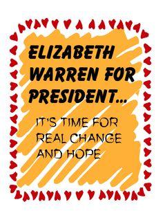 I might consider Elizabeth Warren for President instead of Hillary... O.O