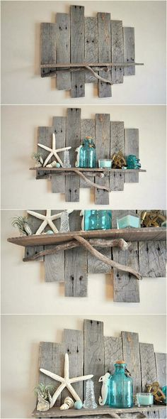 Pallet Wooden Shelf Step Design
