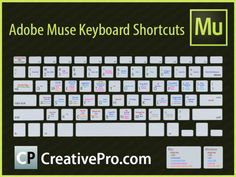 Adobe Muse Keyboard Shortcuts