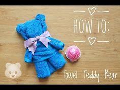 How to: TOWEL TEDDY BEAR tutorial!!! (English) || itskarlawithak - YouTube