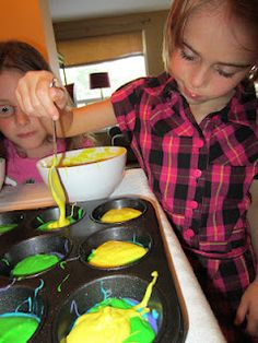 How to bake Rainbow Cupcakes    #kids #fun #baking