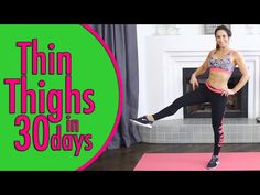 Thin Thighs in 30 Days | Natalie Jill - YouTube