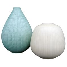 Danish Pottery Duo | From a unique collection of antique and modern vases at http://www.1stdibs.com/furniture/dining-entertaining/vases/