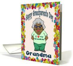 "Happy Day (Grandma) I love my grandsons Zaire Amari aka ""Pooner"" & Aiden aka ""Baby Aiden! Grandparents Day Cards, Grandma Cards, American Card, American Greetings, Grandkids, Holiday Cards, Greeting Cards, African, Christian"