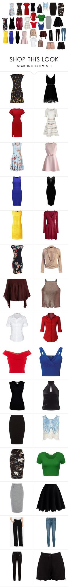 """""""Shopping Spree"""" by mnmaier on Polyvore featuring Miss Selfridge, Chicwish, Line, River Island, Lands' End, Sans Souci, LE3NO, Velvet by Graham & Spencer, The Limited and Frame Denim"""