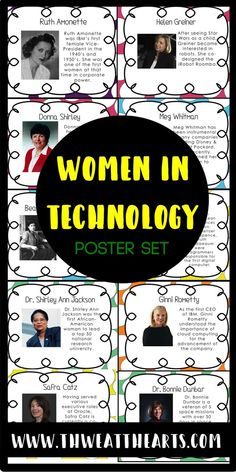 Women In Technology Person Of The Week Science And Technology Classroom Technology Technology Posters