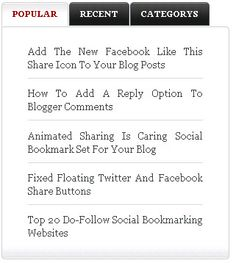 How to make a tabbed Sidebar in Blogger