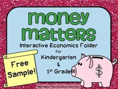 This is a free, two page sample from my  Money Matters: Interactive Economics Folder for Kindergarten and First Grade.This sample is a cut and glue book for students to learn about service providers in their community. I would love to have you as a follower!