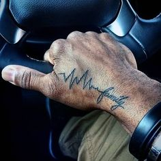 heartbeat tattoo design wrist tattoos for men #tattoos #ideas