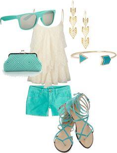 """Turquoise Summer"" by egldancer ❤ liked on Polyvore"