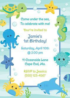 51 best under the sea baby shower invitations images on pinterest under the sea birthday party invitation baby shower themes ocean theme baby shower filmwisefo