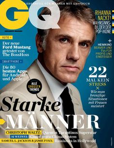 Christoph Waltz GQ Magazine cover