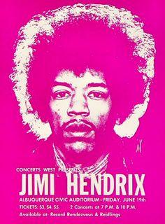 Jimi Hendrix (Jun 19.1970 at Civic Auditorium, Albuquerque, NM)