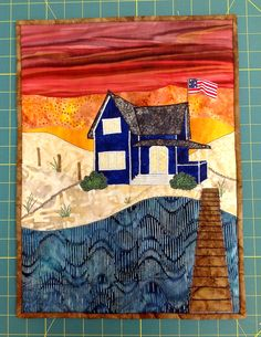 Katie made this wall-hanging for the House Quilt Project * http://thehousequiltproject.blogspot.com/ * (July 2013)