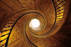 A Triple Spiral Staircase in the Museum of the Galician People, Santiago de Compostela, Spain - Stairs, Designs Of Stairs Inside House, Home Stairs Ideas, Staircase Design Ideas, Modern And Retro Staircase Designs For Big And Small Homes