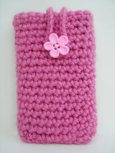 Hand made Crochet Iphone and other similarly sized smart phones pouch or case.  Acrylic yarn. If you would like a different color or measurements please let me know.