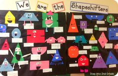 Love the student-made bulletin board and the little activities she had to go along with it!