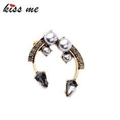 Unique Retro Symmetry Imitation Pearls Stud Earrings Fashion Jewelry China