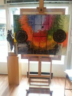 Arte abstracto que podéis encontrar en la Sala de arte Nov