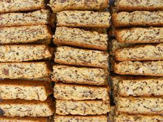 """I grew up in a household where we always ate fabulous homemade rusks. My mom was THAT """"tannie"""" who could bake the best """"mosbolletjies"""" and buttermilk rusks in the whole tow… Kos, Baking Tins, Baking Recipes, Easy Recipes, Baking Breads, Sweet Recipes, Buttermilk Rusks, Rusk Recipe, Recipe Box"""
