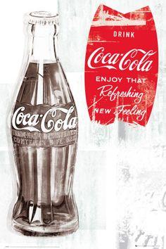 Coca Cola - Retro Plakat