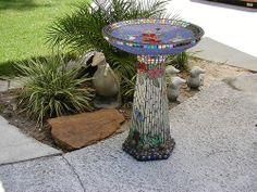 Mosaic Birdbath