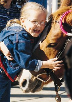 Horses help children with cerebral palsy (and other neurological disabilities) learn to walk :)