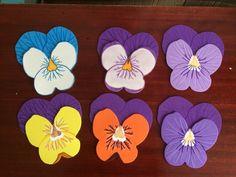 Kreatív Marcsi és a dekorgumi :): Árvácska virág dekorgumi figura / flowers craft foam pictures