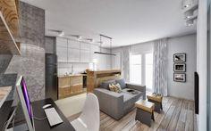 wohnungseinrichtung-ideen-wohnzimmer-spiegelwand-hinter-sofa ...