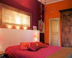 Pinky Orange bedroom