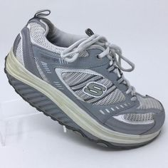 196ad21d2f43 Details about Skechers Shape Ups 11814 Womens White Shoes 6.5 Toning  Walking Sneakers Fitness