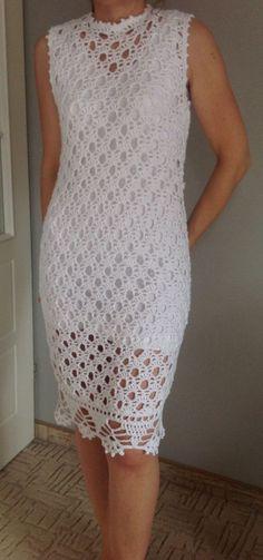 Beautiful White crochet dress…lovely pattern