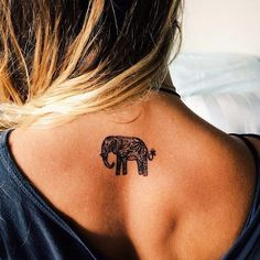 Small, pink and Indian and other Elephant Tattoo Designs, Ideas and Images with meaning. Best Elephant tattoos for on foot, hand, wrists or thighs. Tattoo Girls, Girl Back Tattoos, Tattoo Designs For Girls, Small Tattoo Designs, Tattoo Designs Men, Hippie Tattoo, Tattoos Lindas, Moda Minimal, Elephant Tattoo Design