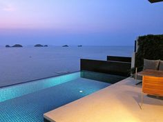 Sunset View from our Villa at the Conrad Koh Samui     >>> http://search.topthailandhotels.com/City/Koh_Samui.htm