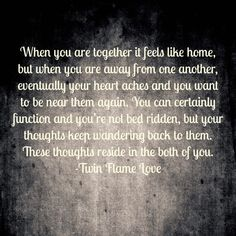..but your thoughts keep wandering back to them....  Soul Mates and Twin Flames by Kevin Hunter