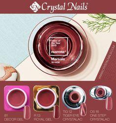 #marsala #coloroftheyear #trendcolor #2015 #crystalnails