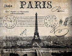 Antique Postcard Fancy French Paris Illustration Digital Download for Papercrafts, Transfer, Pillows, etc No 2665. $1
