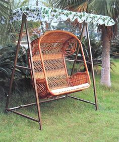 Double patio furniture rocking chair sofa hanging chair coffee table swing balcony outdoor casual double hanging basket