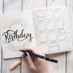 So sieht mein Geburtstagskalender in meinem Bulletjournal aus Ich überlege gerade welche Listen für mich Sinn machen und da ich ständig Geburtstage vergesse, ist das eine sehr wichtige Tabelle für mich. Welche Listen habt ihr noch im Einsatz? Material: Heft von TK Maxx von Millie Marotta, Batsford Tombow Brushpens Edding 1880 Profipen und einen Tombow Bleistift und Radiergummi zum vorzeichnen. Hashtags: #bulletjournal #bujojunkies #bulletjournalcommunity #planner #plannercommunity #plan...