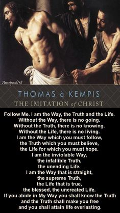 Excerpt from The Imitation of Christ. Catholic Religion, Catholic Quotes, Catholic Prayers, Religious Quotes, Spiritual Health, Spiritual Wisdom, Spiritual Practices, Inspirational Readings, Inspirational Quotations