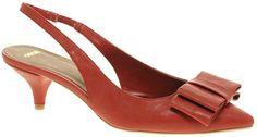 Asos Savvy Slingback Tripple Bow Kitten Heel Shoe