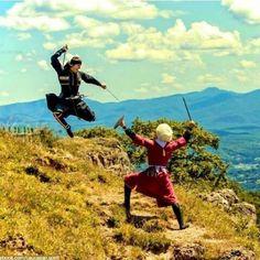 Warrior dancers ----------------------     Ismayilli,   Azerbaijan