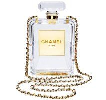 Chanel perspex perfume clutch, clear