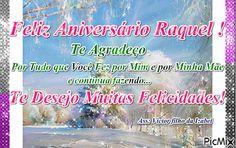 Mensagem de Aniversário para Raquel Anniversary Message, Happy Brithday, Saints, Messages